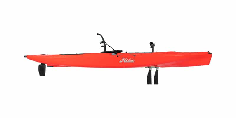 mirage outback kayak in red